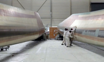 Rotor blade production and molding practice in Bremen