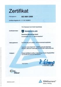 DIN ISO-Zertifikat 2013 - 2016