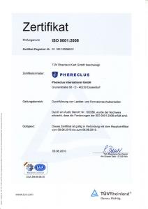 DIN ISO-Zertifikat 2010 - 2013