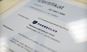 Phereclus zertifiziert nach ISO 9001 und OHSAS 18001